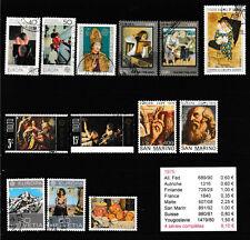 1 lot 13 timbres EUROPA de 1975 oblitérés de pays différents   très bon état
