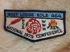 @ HOST LODGE KOLA 464 NATIONAL 1979 CONFERENCE BSA WWW (C)