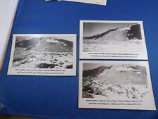 GIANT LANDSLIDE POSTCARDS LOT OF 3 COVERING TWO MILES OF HOPE PRINCETON HIGHWAY