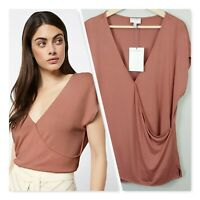 [ WITCHERY ] Womens Crossover Drape Top NEW | Size XL or AU 16 / US 12