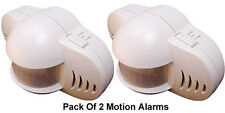 Pack Of 2 Mini Portable Infrared Motion Sensor Alarm System With 90dB Siren