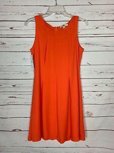 Ya Los Angeles Boutique Women's M Medium Orange Cute Fall Dress NEW With TAGS