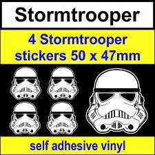 4 Stormtrooper Stickers Star Wars Funny Novelty VW DUB JDM bike van Car Decal