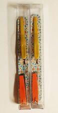 TRIM MINI MANI TOGO KIT *2* NAIL FILE BLUE CLIPPER ORANGE CUTICLE PUSHER YELLOW
