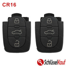 2x Audi Klappschlüssel 3 Tasten Autoschlüssel Gehäuse CR16 Batteriefach A3 A4 A5