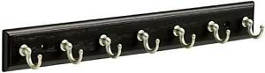 Franklin Brass Key Hook Rail Wall Hooks 14 Inches, Black  Satin Nickel, Fbkeyt7