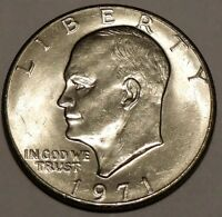 1971-P- 1$ Eisenhower Dollar Coin - Copper-Nickel Clad  Ike Philadelphia