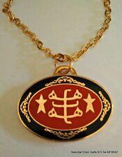 Baha'i symbol oval pendant necklace large round shape from Haifa