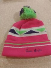 Vintage Arctic Cat Knit Hat Artic vintage 1970's fast ship rare Pink pom pom