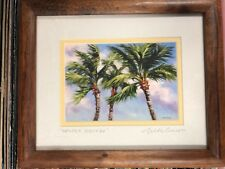 "Mike Carroll Signed Print Art Framed ""Gentle Breeze"" Hawaiian."