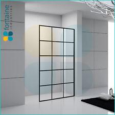 Shower Panel 1200 Frameless Screen Single Wet Room 10mm Safety Glass AU Standard