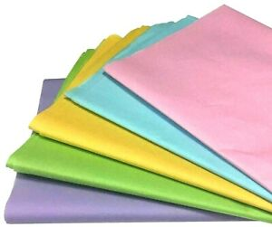 Pastel Tissue Paper 5 Colours Mixed Pack 500mm x 750mm