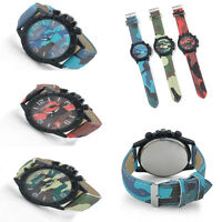 Fashion Childrens Kids Student Strap Army Camouflage Watch Xmas Gift for Boys