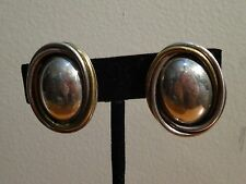 Clip-On Earrings Made in Mexico Vintage 925 Solid Sterling Oval