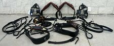 Rare Find HEAVY Duty Team Training PONY Cart Driving Harness Black + Tan accents