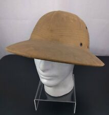 5f672c4b0b156 VTG Khaki Safari Helmet Hat War Jungle Brown Cap Cosplay Hunting Pith  Explorer