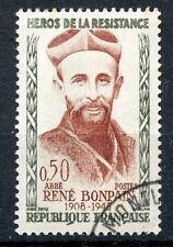 TIMBRE FRANCE OBLITERE N° 1252 HEROS DE LA RESISTANCE ABBE RENE BONPAIN