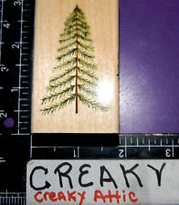PINE TREE STICK RUBBER STAMP BROTHERS SISTERS DESIGN