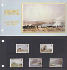 "JERSEY PRESENTATION PACK MNH ""JERSEY ARTISTS VIII J.Le CAPELAIN"""