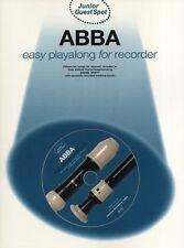 Guest Spot JUNIOR ABBA Recorder Music Book MAMMA MIA CD