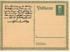 CARTE POSTALE ENTIER POSTAL ALLEMAGNE GERMANY