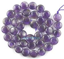 10mm new natural amethyst button gemstone Beads 15""