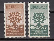 LEBANON - LIBAN MNH SC# C284-C285 WORLD REFUGEE YEAR ANNIV