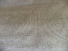 Beige Off White Herringbone Velvet Upholstery Fabric 1 Yard  R634