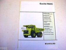 Euclid R65C Hauler Truck Literature