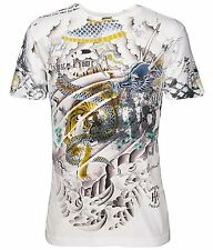 Hause of Howe Samurai Dragon Tee (M) White N5305BK