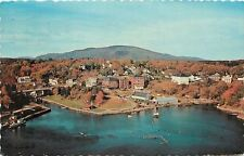 Rockfort Maine~Boat Club & Coast Seafood Corp~Camden Hills in Background 1970 PC