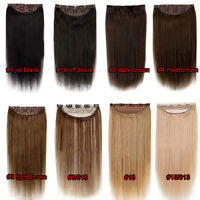 One Piece Remy Hair Extension Clip in 100% Human Hair Full Head/Highlights Cheap