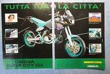 MOTOSPRINT991-PUBBLICITA'/ADVERTISING-1991- CAGIVA SUPER CITY 125 (2 fogli)