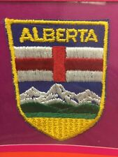 Vtg New 1980's Alberta Shield Sew-On Patch AB Canada Flag Crest Calgary Edmonton