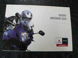S333 SUZUKI BROCHURE POSTER ALL MODELS  2010 GSX-R1000/Z,GSX-R750,GSX-R600 ETC.