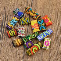 15Pcs Dreadlock Beads Women Hair Jewelery Braid Decor Fabric DIY Mixed Girl Gift