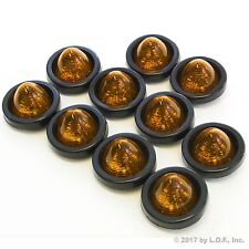 """10 New 2"""" Amber LED Beehive Side Clearance Marker Lights w Grommet and Wiring"""