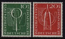 W Germany 1955 Postage Stamp Exhibition SG1143/4 MNH