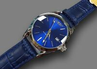 ds Orologio Polso YK G5030 Uomo Analogico Automatico Data Elegante Moda Blu lac