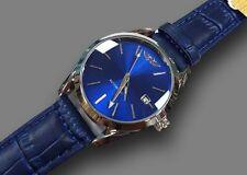 Orologio Polso YK G5030 Uomo Analogico Automatico Data Elegante Moda Blu lac