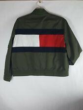 NEW Tommy Hilfiger Olive Green Bomber Jacket Men Zip...