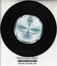 "STEVIE WONDER  Master Blaster  7"" 45 rpm vinyl record + juke box title strip"