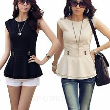 No Pattern Classic Collar Hip Length Women's Tops & Shirts ,Multipack