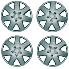 SET OF 4 X 13 INCH SILVER WHEEL COVER TRIM HUB CAP ALLOY LOOK 13""