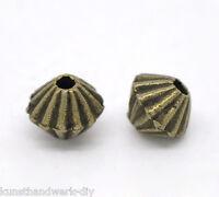 500 Silberfarbe Blumen Spacer Perlen Zwischenteil Für Schmuck DIY 3.5x3.2mm KUS
