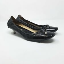 Tod's Kitten Heels Ballet Black Women's US Size 9 EUR 39 1/2 39.5 Leather Bow
