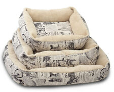 Pet Bed Vintage Cushion For Dog Cat Puppy Warm Cozy Soft Crate Pad - Mm