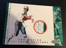 DAN MARINO 2001 Fleer Showcase Stitches PATCH 2 Color JERSEY Card SP Dolphins