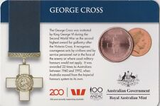 2017 Australian George Cross 25 cent carded coin UNC