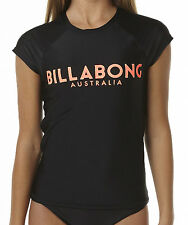 "BRAND NEW +TAG BILLABONG GIRLS (8) WET SHIRT RASH VEST RASHIE ""SURF CITY"" BLACK"